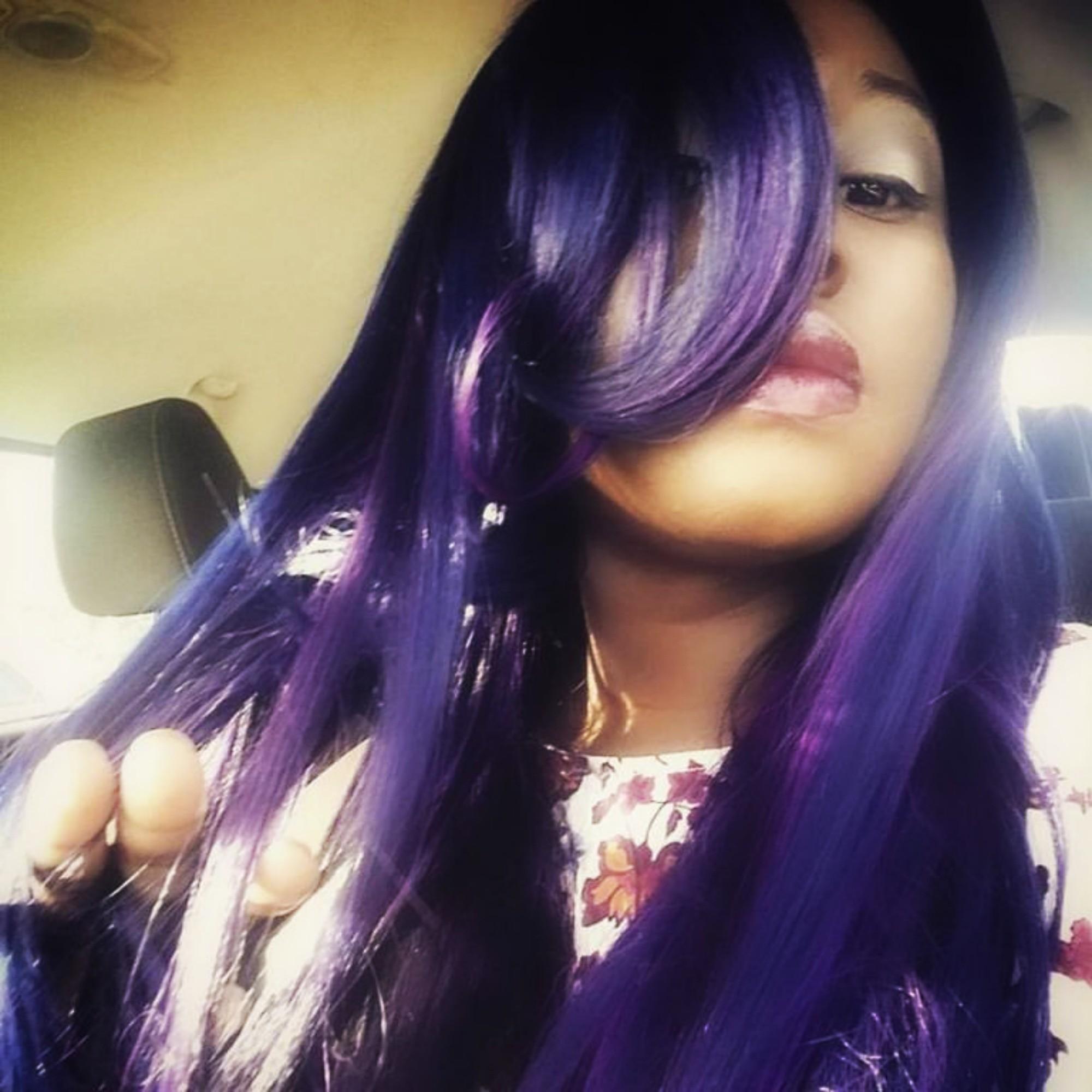 Bobbi Boss Wigs ~ Chanel ~ Bluish Purple Hair